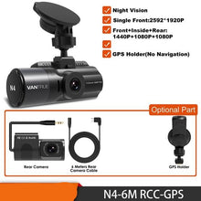 Load image into Gallery viewer, 3 Channel N4 Dash Cam 4K Camera Vehicle Video Recorder Dashcam Front and Rear Night Vision DVR