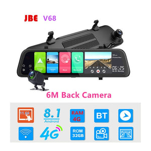 Dash Camera 12 inch 4G DVR Rearview Mirror Wi-Fi Android HD Video Auto Recorder GPS Navigation