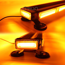 "Load image into Gallery viewer, 20"" 26"" 31"" 37"" 43"" 49"" Four Side Tow Truck Vehicle Car Emergency Flash COB Led Strobe Warning Light Bar Amber Red Blue 12V 24V"