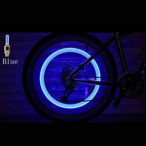 2pcs Neon Lights Color Wheel Valve Cap Light