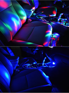 Led USB Car Atmosphere Light RGB 3W Sound Lamp
