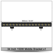Load image into Gallery viewer, 6D Lens Single Row Led Bar Light  Flood Beam