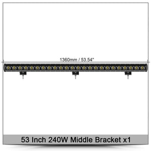 6D Lens Single Row Led Bar Light  Flood Beam