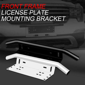 Off-road Front Holder License Number Plate Bracket Mount (Silver)