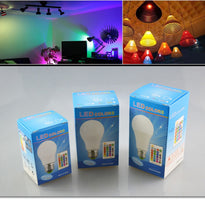 Load image into Gallery viewer, 110v E27 RGB LED Bulb With IR Remote