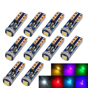 10X  T5  SMD Car LED Bulbs Can-bus Error Free Instrument Light