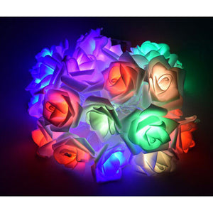 Bouquet 20 roses LED