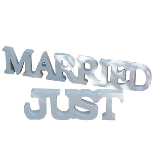 "Lettres ""JUST MARRIED"""