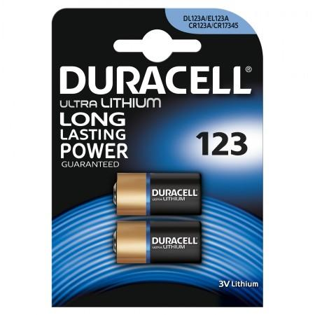 Duracell Ultra CR123 Lithium Photo Batteries