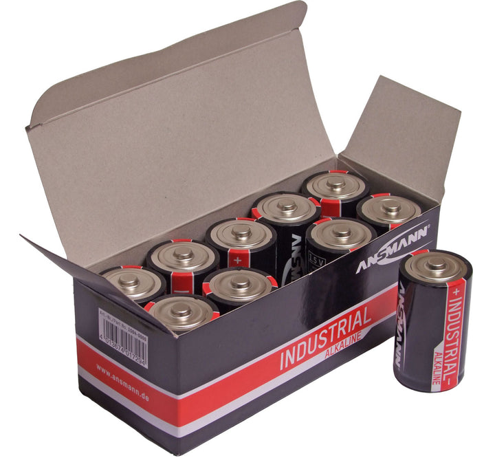 Ansmann Industrial D/LR20 Batteries 10PK