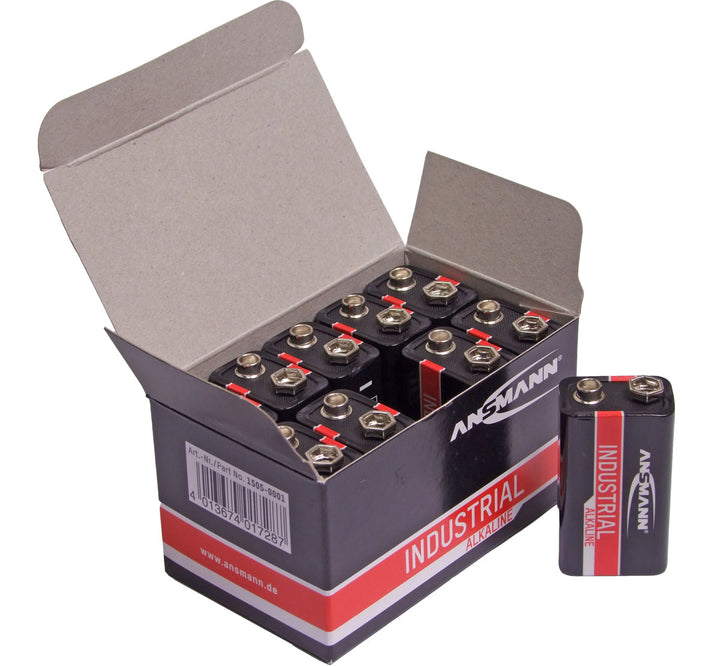 Ansmann Industrial 9V/PP3 Batteries 10PK