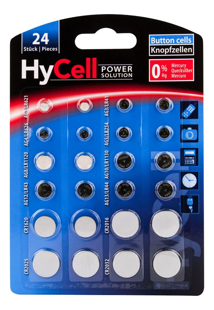 HyCell Alkaline/Lithium Battery MultiPack of 24