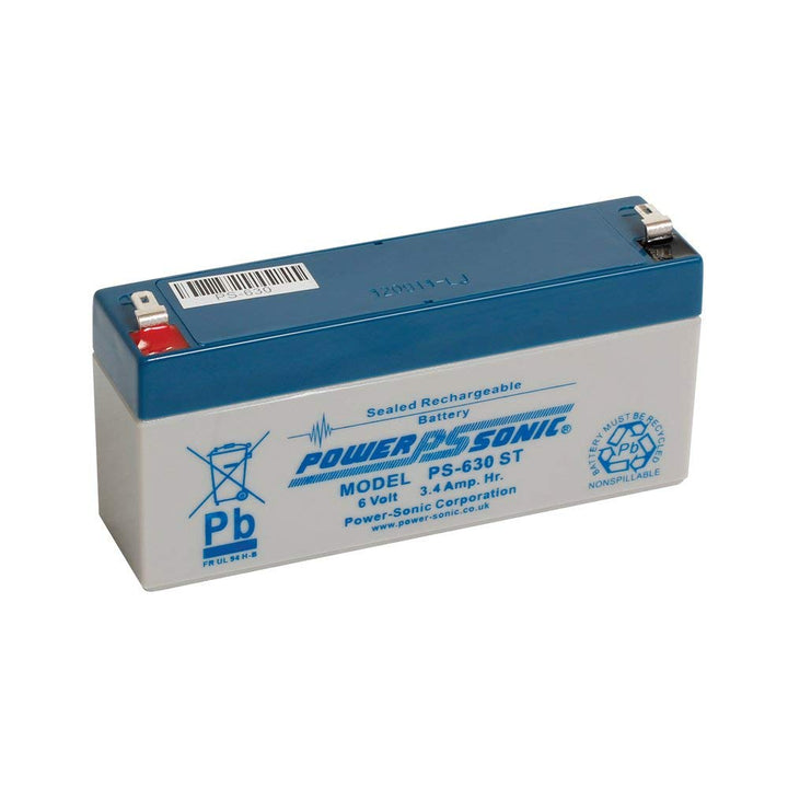 Power-Sonic PS630 6V 3.4Ah SLA Battery