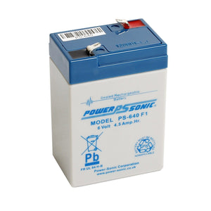 Power-Sonic PS640 6V 4.5Ah SLA Battery