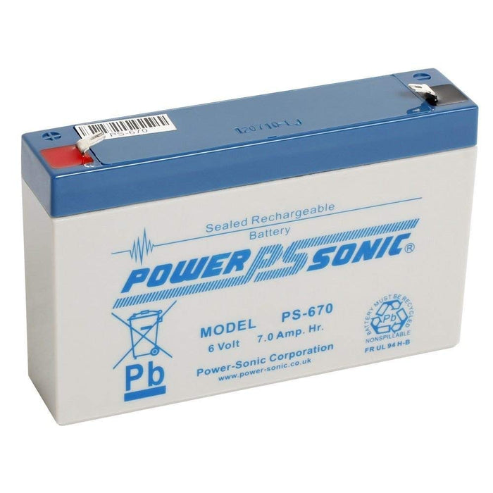 Power-Sonic PS670 6V 7.0Ah SLA Battery