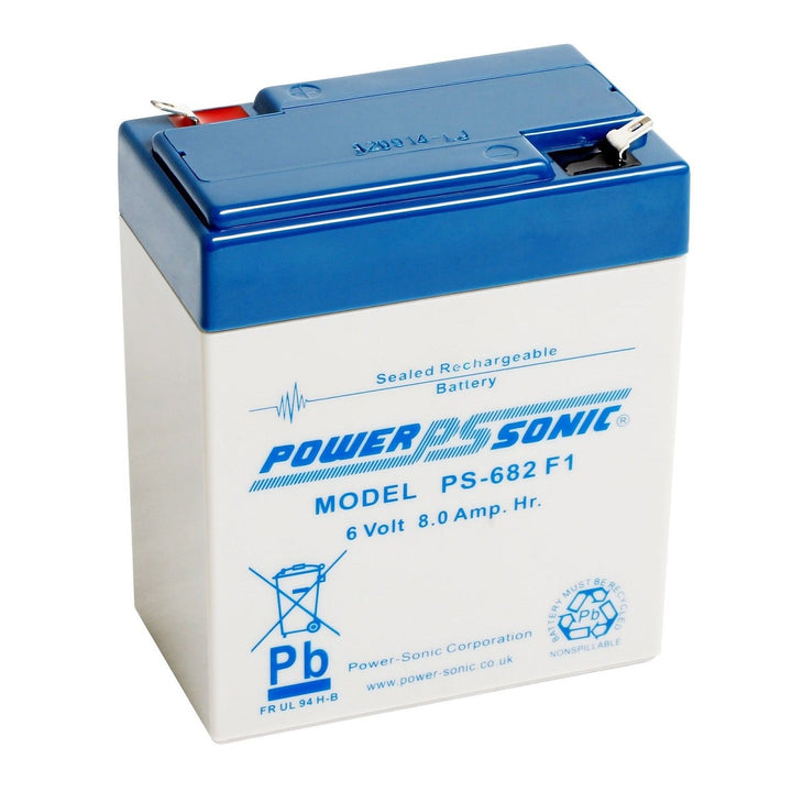 Power-Sonic PS682 6V 8.0Ah SLA Battery
