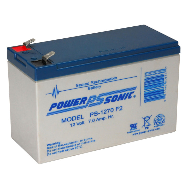 Power-Sonic PS1270 12V 7.0Ah SLA Battery