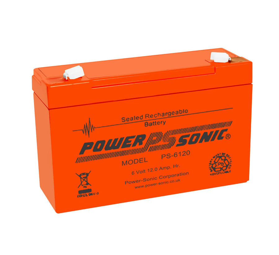 Power-Sonic PS6120-V0 6V 12.0Ah SLA Battery