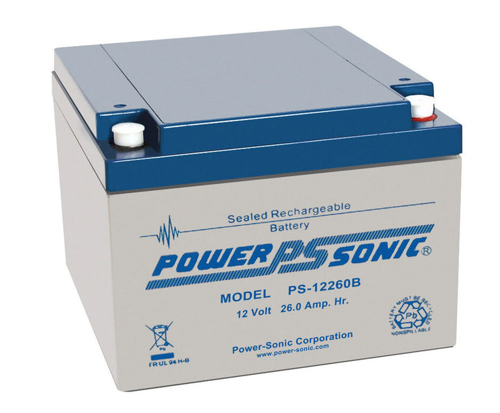 Power-Sonic PS12260 12v 26.0Ah SLA Battery