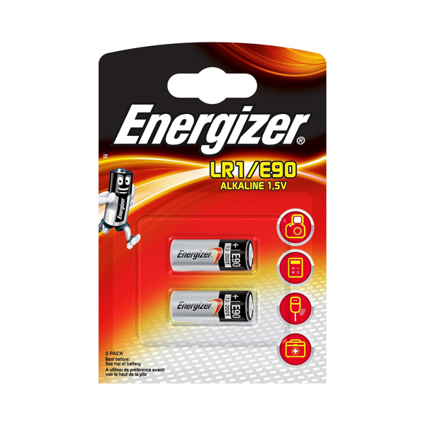 Energizer LR1 / E90 Alkaline Batteries Pack of 2