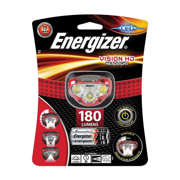 Energizer LED Vision HD Headlight - 50 Metres
