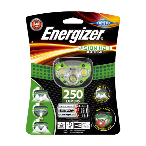 Energizer LED Vision HD+ Headlight - 70 Metres