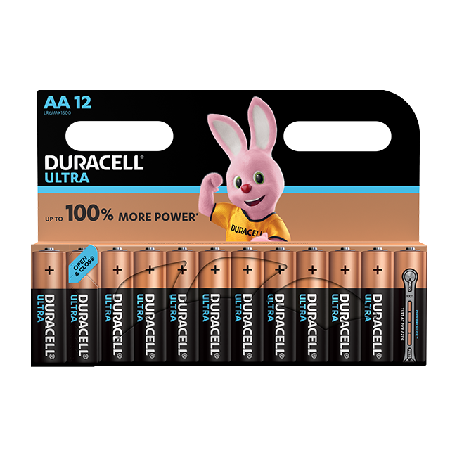 Duracell Ultra Power AA / LR6 Batteries Pack of 12