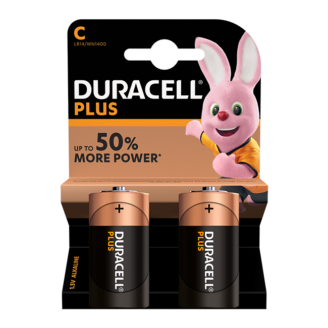 Duracell Plus Power C / LR14 Batteries Pack of 2