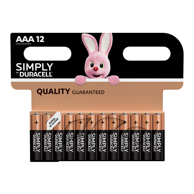 Duracell Simply AAA / LR03 Batteries Pack of 12