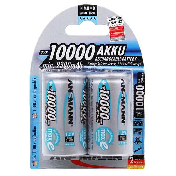 Ansmann D NiMH 10000mAh Rechargeable Batteries