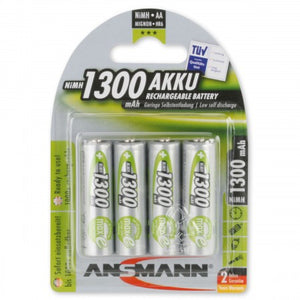 Ansmann AA NiMH 1300mAh Rechargeable Batteries