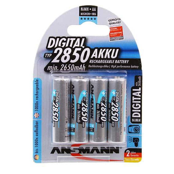 Ansmann Digital AA NiMH 2850mAh Rechargeable Batteries