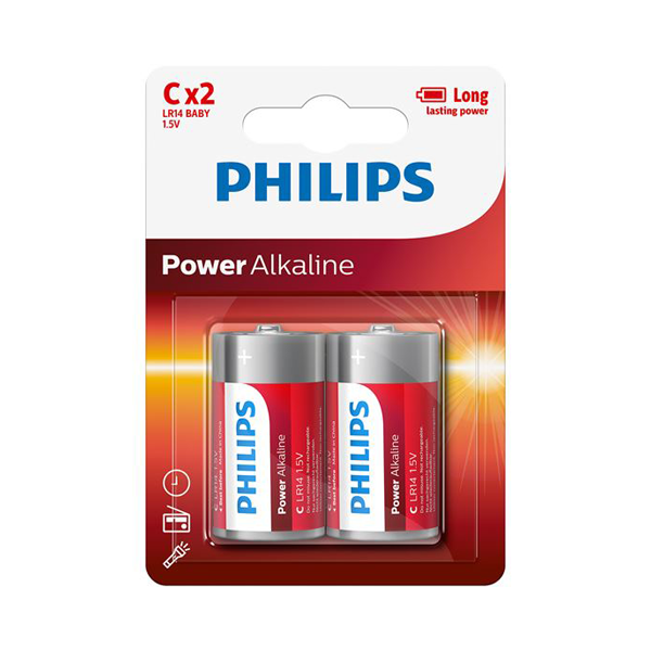 Philips Power C Alkaline Batteries