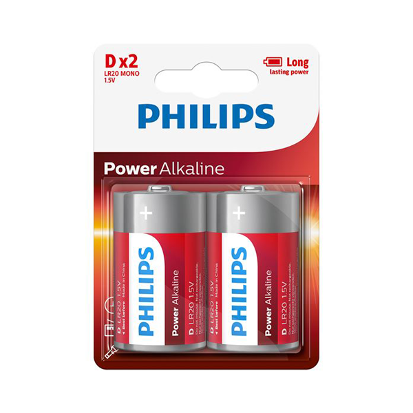 Philips Power D Alkaline Batteries