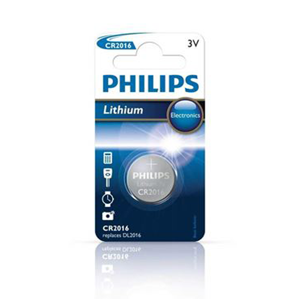 Philips CR2016 3V Lithium Coin Cell Battery