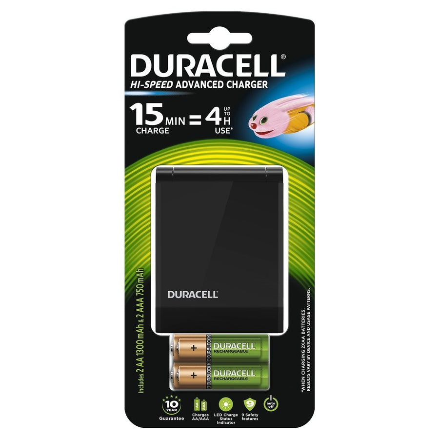 Duracell 45 mins Hi-Speed Battery Charger inc 2AA+2AAA