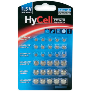 HyCell Button Battery MultiPack of 30