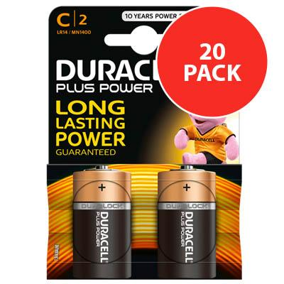 Duracell Plus Power C / LR14 Batteries 20PK
