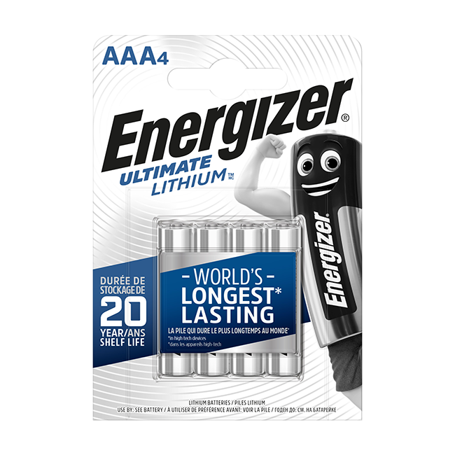 Energizer Ultimate Lithium AAA / LR03 Batteries