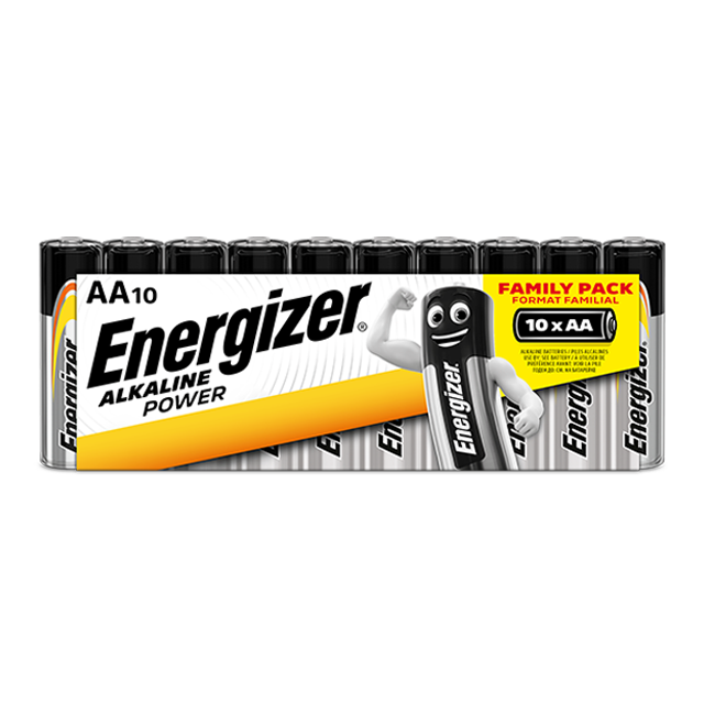 Energizer Alkaline Power AA / LR6 Batteries Pack of 10