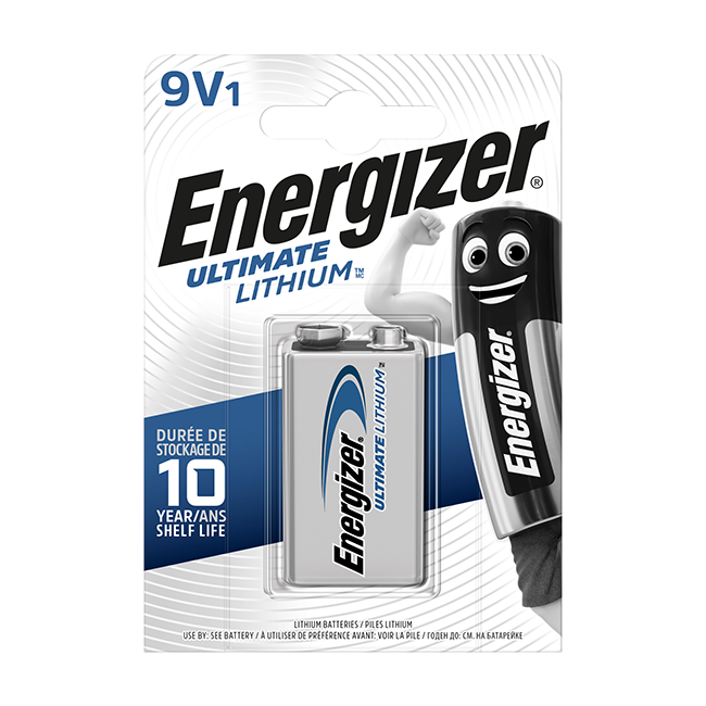Energizer Ultimate Lithium 9V PP3 (MN1604) Battery