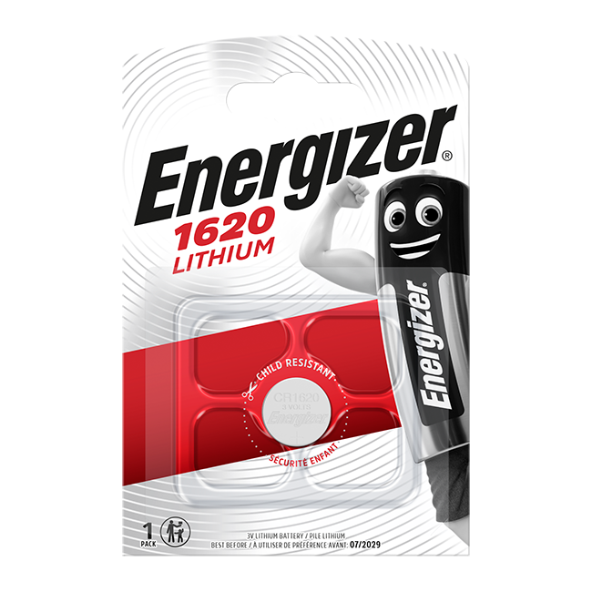 Energizer CR1620 3V Lithium Coin Cell Battery