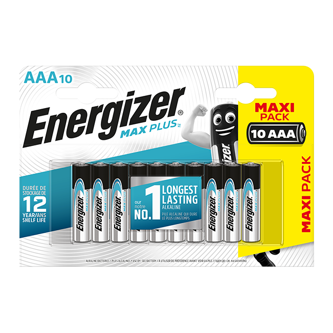 Energizer Max Plus AAA / LR03 Batteries