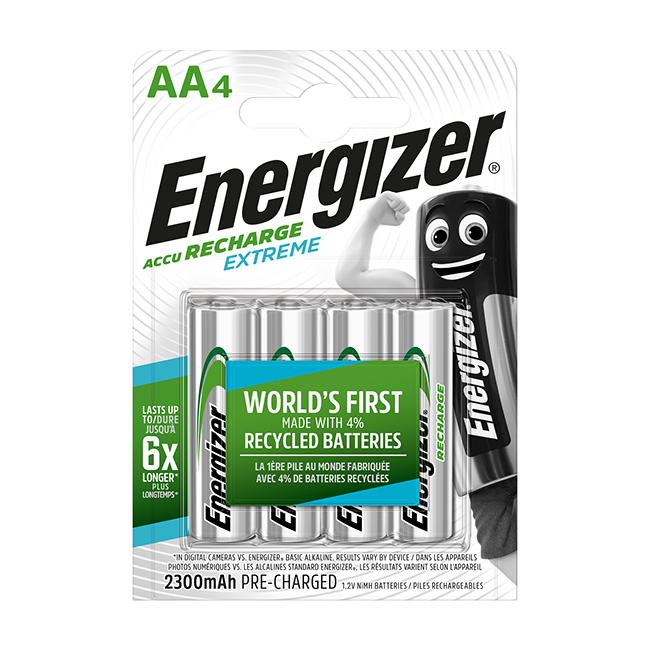 Energizer Extreme AA 2300mAh Rechargeable Batteries