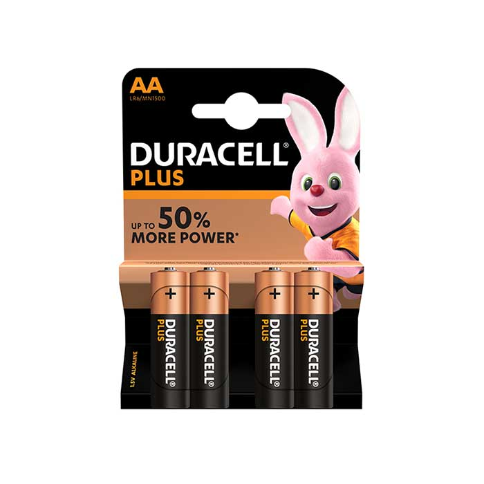 Duracell Plus Power AA Batteries - 4 Pack