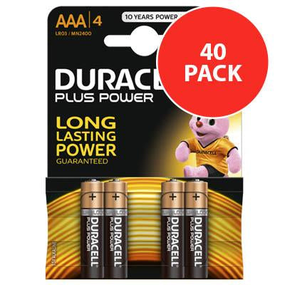Duracell Plus Power AAA / LR6 Batteries 40PK