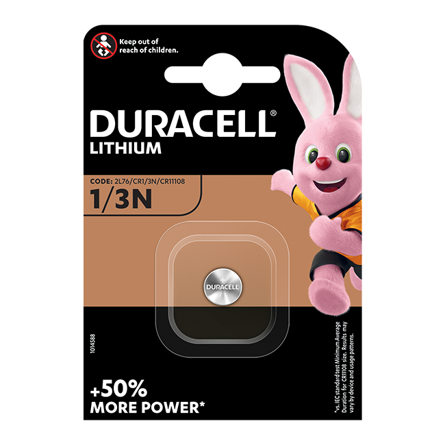 Duracell CR1/3N (2L76) Lithium Photo Battery