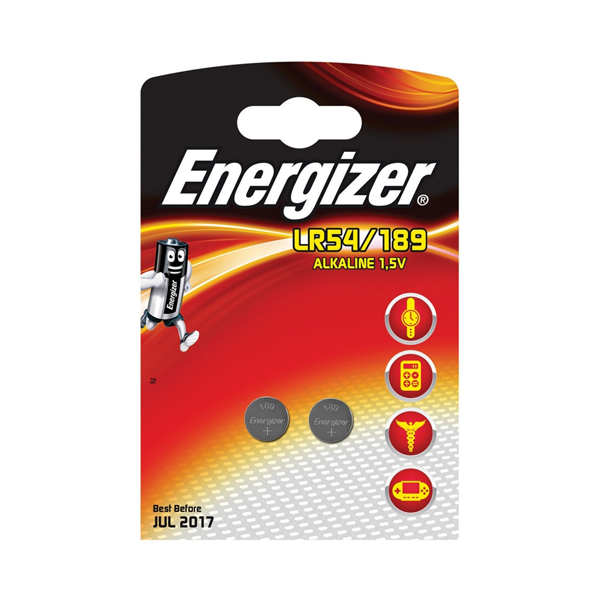 Energizer LR54 / AG10 Button Cell Batteries