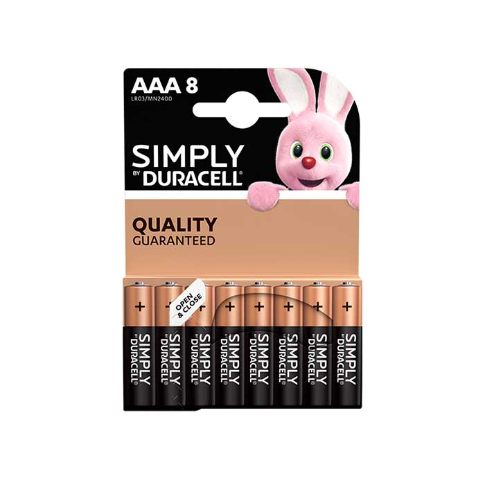 Duracell Simply AAA Batteries - 8 Pack