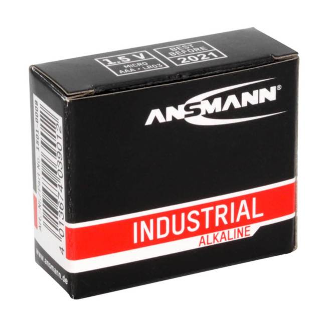 Ansmann Industrial AAA/LR03 Batteries 10PK